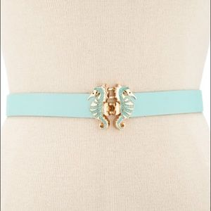 ✨NWT✨ Kate Spade Seahorses Blue Leather Belt